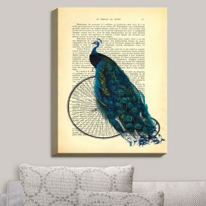 Decorative Canvas Wall Art | Madame Memento - Peacock Bicycle