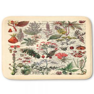 Decorative Bathroom Mats | Madame Memento - Plant Chart | nature earth flower