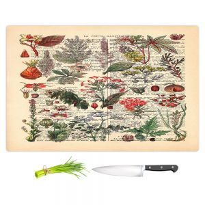 Artistic Kitchen Bar Cutting Boards | Madame Memento - Plant Chart | nature earth flower