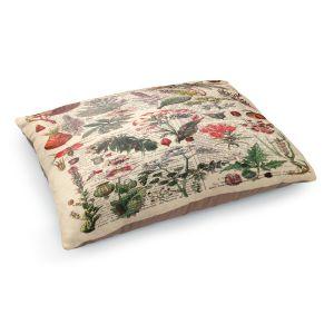 Decorative Dog Pet Beds | Madame Memento - Plant Chart | nature earth flower