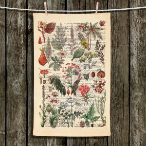 Unique Bathroom Towels | Madame Memento - Plant Chart | nature earth flower