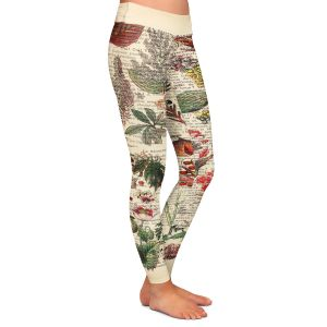 Casual Comfortable Leggings | Madame Memento - Plant Chart | nature earth flower