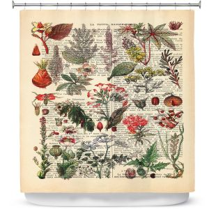 Unique Shower Curtain from DiaNoche Designs by Madame Memento - Plant Chart
