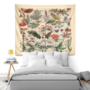 Artistic Wall Tapestry | Madame Memento - Plant Chart | nature earth flower