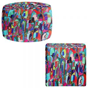 Round and Square Ottoman Foot Stools | Maeve Wright - Cathedral City
