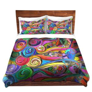 Artistic Duvet Covers and Shams Bedding | Maeve Wright - Rainbow Fragment