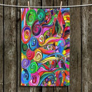 Unique Hanging Tea Towels | Maeve Wright - Rainbow Fragment | Abstract