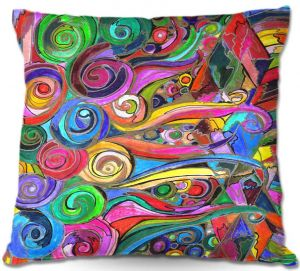 Throw Pillows Decorative Artistic | Maeve Wright Rainbow Fragment