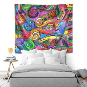 Unique Wall Tapestry 88x104 from DiaNoche Designs by Maeve Wright - Rainbow Fragment