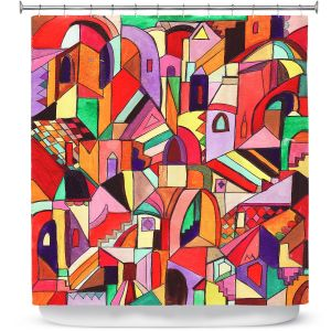 Premium Shower Curtains | Maeve Wright The Ice Cream Colored Citidel