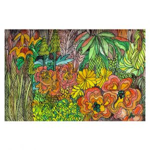 Decorative Area Rug 2 x 3 ft from DiaNoche Designs by Maeve Wright - Tropical Orange and Green