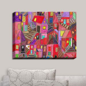 Decorative Canvas Wall Art | Maeve Wright - Up and Downtown