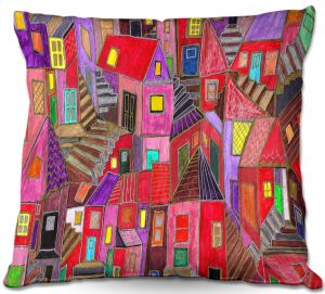 Decorative Outdoor Patio Pillow Cushion | Maeve Wright - Up and Downtown