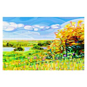 Decorative Floor Covering Mats | Mandy Budan - Almost Autumn | surreal abstract landscape shapes