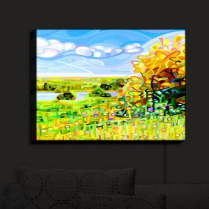 Nightlight Sconce Canvas Light | Mandy Budan - Almost Autumn | surreal abstract landscape shapes