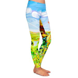 Casual Comfortable Leggings | Mandy Budan - Almost Autumn | surreal abstract landscape shapes