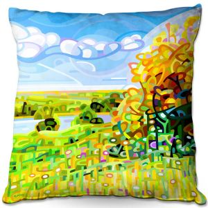Throw Pillows Decorative Artistic | Mandy Budan - Almost Autumn | surreal abstract landscape shapes