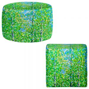 Round and Square Ottoman Foot Stools | Mandy Budan - Among Friends