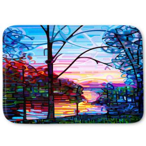 Decorative Bathroom Mats | Mandy Budan - Awakening | surreal abstract landscape shapes