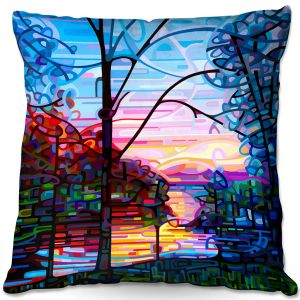 Decorative Outdoor Patio Pillow Cushion | Mandy Budan - Awakening | surreal abstract landscape shapes