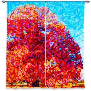 Decorative Window Treatments | Mandy Budan Buddha Tree