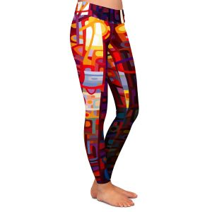 Casual Comfortable Leggings | Mandy Budan Carnelian Morning