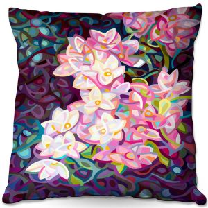 Throw Pillows Decorative Artistic | Mandy Budan - Cascade | flower surreal shapes abstract