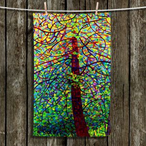 Unique Hanging Tea Towels   Mandy Budan - Kaleidoscope   Trees Abstract