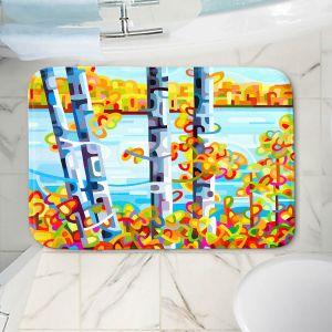 Decorative Bathroom Mats | Mandy Budan - Lake Birch | tree surreal nature shapes