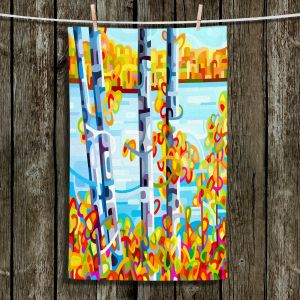 Unique Bathroom Towels | Mandy Budan - Lake Birch | tree surreal nature shapes