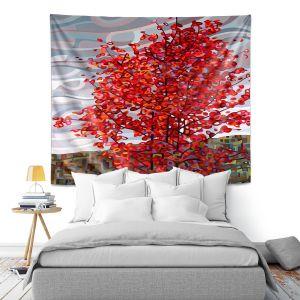 Artistic Wall Tapestry   Mandy Budan - Passing Storm   tree surreal nature shapes