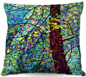 Decorative Outdoor Patio Pillow Cushion   Mandy Budan - Pine Sprites