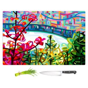 Artistic Kitchen Bar Cutting Boards | Mandy Budan - Salmon Ridge | nature landscape surreal abstract