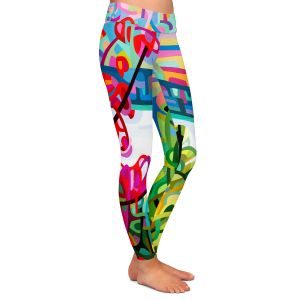 Casual Comfortable Leggings | Mandy Budan - Salmon Ridge | nature landscape surreal abstract