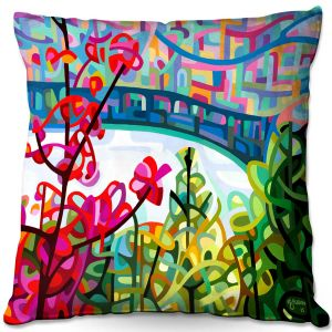 Throw Pillows Decorative Artistic | Mandy Budan - Salmon Ridge | nature landscape surreal abstract