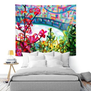 Artistic Wall Tapestry | Mandy Budan - Salmon Ridge | nature landscape surreal abstract