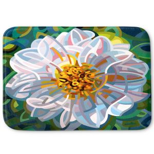 Decorative Bathroom Mats | Mandy Budan - Solitaire | flower surreal shapes abstract