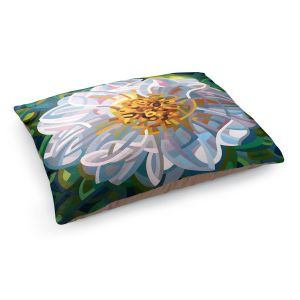 Decorative Dog Pet Beds | Mandy Budan - Solitaire | flower surreal shapes abstract