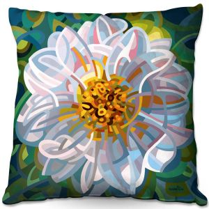Throw Pillows Decorative Artistic | Mandy Budan - Solitaire | flower surreal shapes abstract