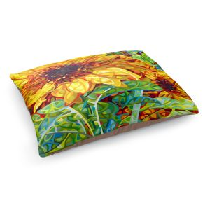 Decorative Dog Pet Beds | Mandy Budan - Summer Garden | sunflower nature surreal