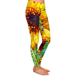 Casual Comfortable Leggings | Mandy Budan - Summer Garden | sunflower nature surreal