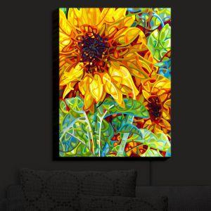 Nightlight Sconce Canvas Light | Mandy Budan - Summer Garden | sunflower nature surreal