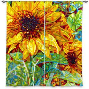 Decorative Window Treatments | Mandy Budan - Summer Garden | sunflower nature surreal