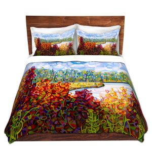Artistic Duvet Covers and Shams Bedding | Mandy Budan - Summers End | lake forest nature surreal