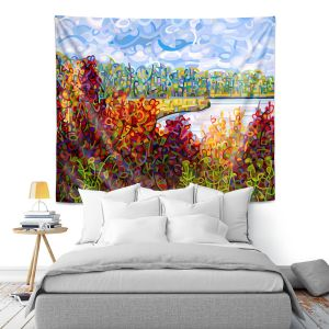 Artistic Wall Tapestry | Mandy Budan - Summers End | lake forest nature surreal