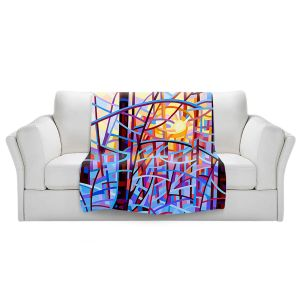 Artistic Sherpa Pile Blankets   Mandy Budan - Sunrise   snow scenery nature forest surreal