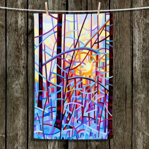 Unique Bathroom Towels | Mandy Budan - Sunrise | snow scenery nature forest surreal