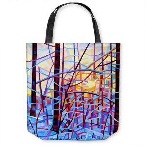 Unique Shoulder Bag Tote Bags   Mandy Budan - Sunrise   snow scenery nature forest surreal