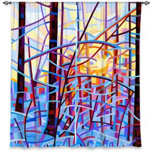 Decorative Window Treatments | Mandy Budan - Sunrise | snow scenery nature forest surreal