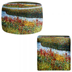 Round and Square Ottoman Foot Stools | Mandy Budan - The River